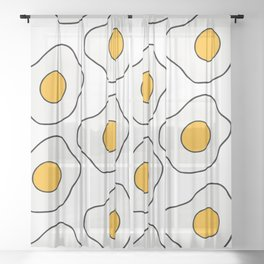 Fried Eggs Sheer Curtain