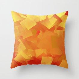 Cubism in orange Throw Pillow