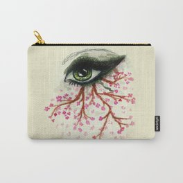 Sketch of an Eye with sakura Carry-All Pouch
