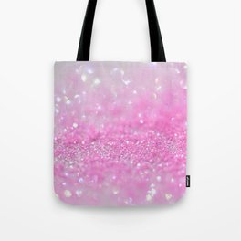 Sparkling Baby Girl Pink Glitter Effect Tote Bag
