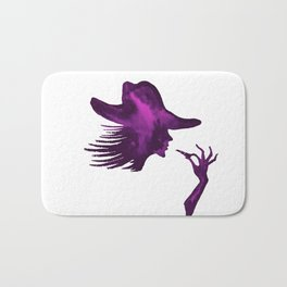 DIVA WITH HAT and Lipstick - PAINTED - Gorgeous VIOLET Bath Mat
