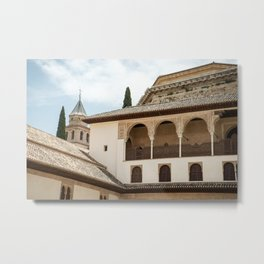 Patio de Comares in the Alhambra Metal Print