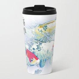 Calligraphy Koi Fish Travel Mug