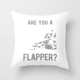Are You A Screamer Or A Flapper Throw Pillow