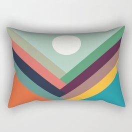 Rows of valleys Rectangular Pillow