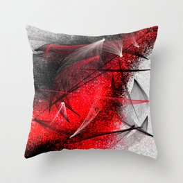 under the spotlight abstract digital painting Throw Pillow
