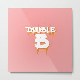 DOUBLE B Metal Print