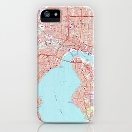Vintage Map of Jacksonville Florida (1964) iPhone Case
