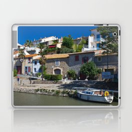 old houses on the canal du midi, france 2 Laptop & iPad Skin