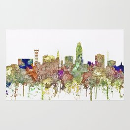 Lincoln, Nebraska Skyline - Faded Glory Rug