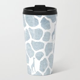 Blue Giraffe Camo Travel Mug