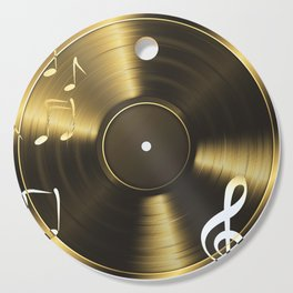 Gold LP Vinyl Record Cutting Board