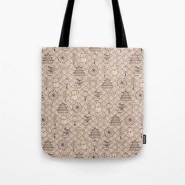 Retro asian pattern Tote Bag