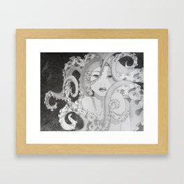 Octopus Snare Framed Art Print