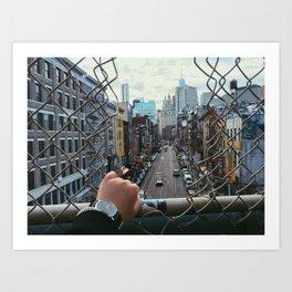 NYC Onwards Art Print