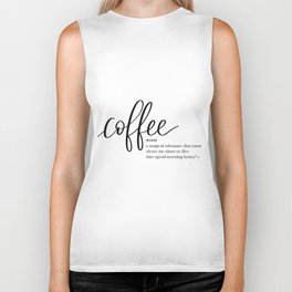 Coffee Quote Definition Biker Tank