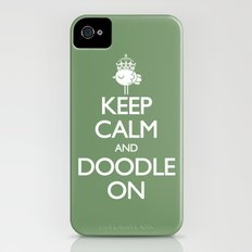 Keep Calm & Doodle On (Green) iPhone (4, 4s) Slim Case