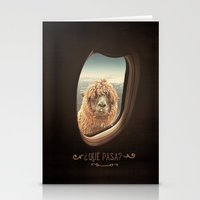 airplane Stationery Cards featuring QUÈ PASA? by Monika Strigel