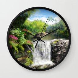 Hawaiian  Garden Wall Clock