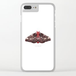 Splendid Royal Moth (Citheronia splendens) Clear iPhone Case