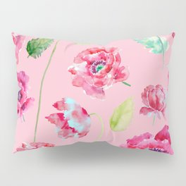 Pink Poppy Pattern 02 Pillow Sham