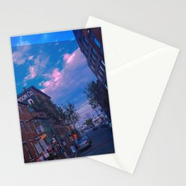 Summer on Moulton Street, Old Port, Portland, Maine Stationery Cards