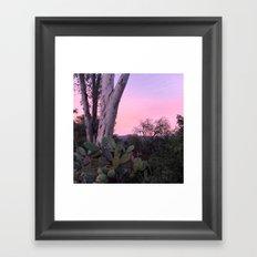 Ojai, California: Pink Sunset Framed Art Print