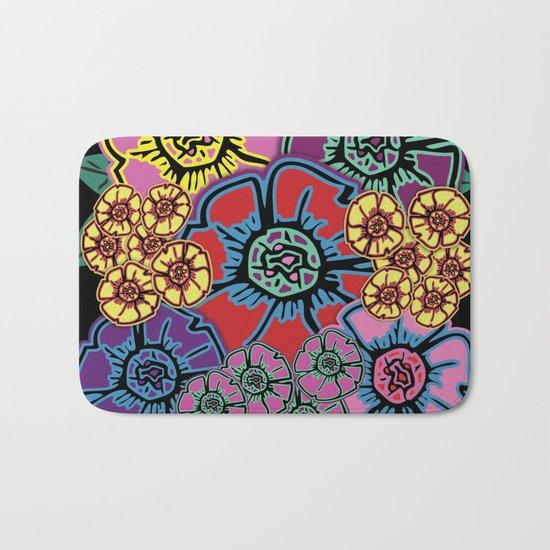 Abstract #408 Flower Power #10 Bath Mat