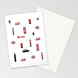 London pattern.London city.England. Stationery Cards