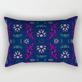 Vivid Thistle on Navy Rectangular Pillow