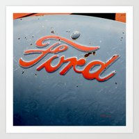 ford Art Prints featuring FORD by TMCdesigns