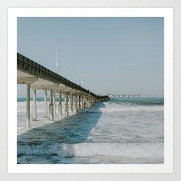 Ocean Beach Boardwalk Art Print