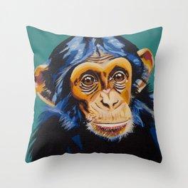 Chimpanzee Smirk Throw Pillow