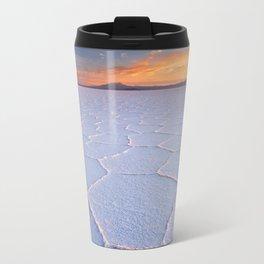II - Salt flat Salar de Uyuni in Bolivia at sunrise Travel Mug