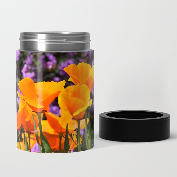 Poppies And Purple Lantana Can Cooler