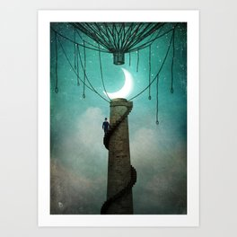 Enter the Sky Art Print
