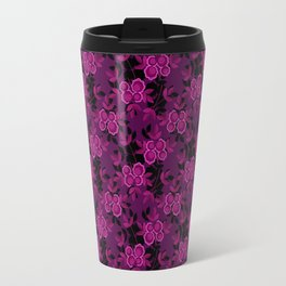 Floral pattern with flowers gzhel Travel Mug