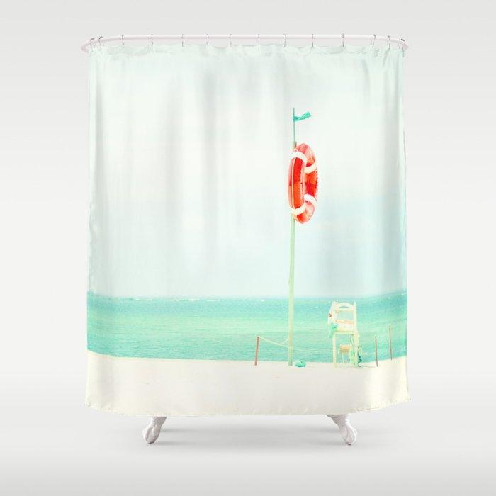 beach V Shower Curtain