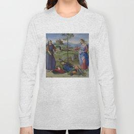 """Raffaello Sanzio da Urbino """"Vision of a Knight (The Dream of Scipio or Allegory)"""", circa 1504-1505 Long Sleeve T-shirt"""