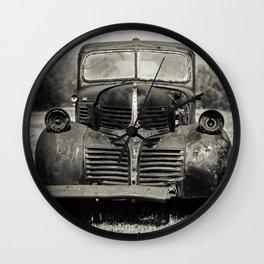 Vintage Black Truck Wall Clock