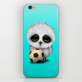 Cute Baby Owl With Football Soccer Ball iPhone Skin