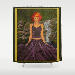Guarding Generation 7 Shower Curtain