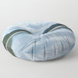 Cloud Reflections Photography Print Floor Pillow