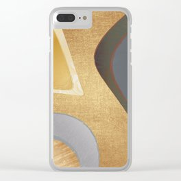 Metal pieces Clear iPhone Case