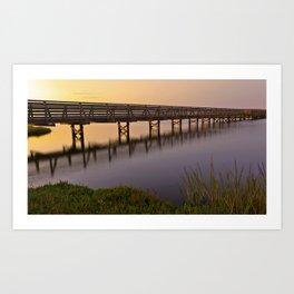 Bolsa Chica Wetlands Sunset Art Print