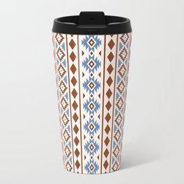 Aztec Essence Pattern II Rust Blue Cream Travel Mug