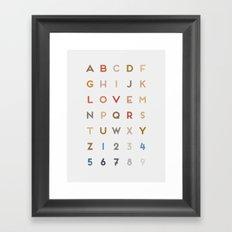 Letter Love - Color Framed Art Print