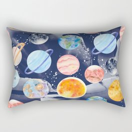 Watercolor Planets | Solar System Rectangular Pillow