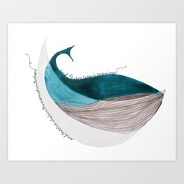 there´s a whale  Art Print