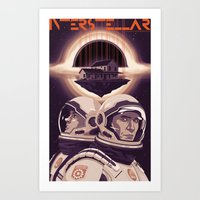interstellar Art Prints featuring INTERSTELLAR by Mike Wrobel